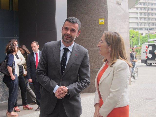 Santi Vila (conseller Territorio Generalitat) Ana Pastor (ministra Fomento)