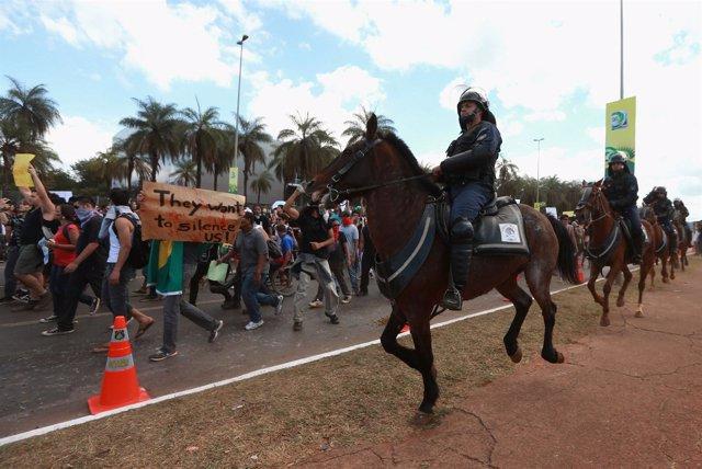 Protestas Brasil Copa Confederaciones