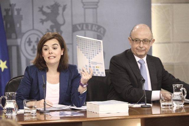 Soraya Sáenz de Santamaría y Cristóbal Montoro
