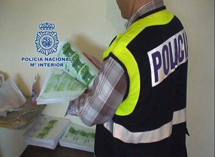 Desarticulado en Bogotá un grupo criminal que producía billetes falsos de euros, dólares y pesos colombianos