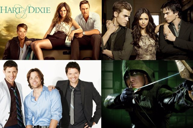 Hart of Dixie, Arrow, The Vampire Diaries, Supernatural