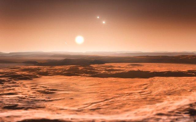 Recreación artística de un planeta del Sistema Gliese 667