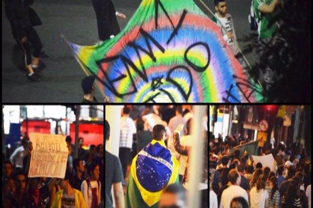 Un millón de personas marcha por las calles de Brasil