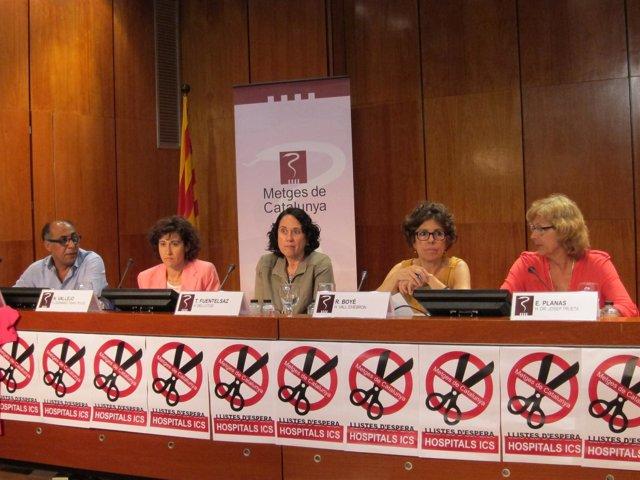 Rueda de prensa de Metges de Catalunya