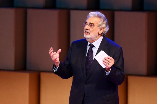 El cantante Plácido Domingo