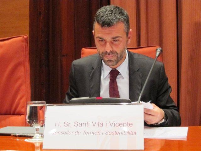 El conseller Santi Vila en el Parlament