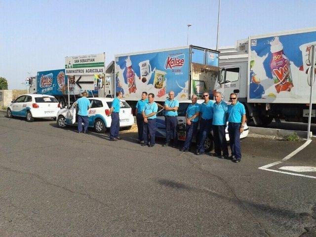 Concentración Trabajadores en Huelga de Kalise Menorquina Las Palmas