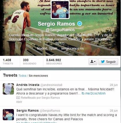 Torres, Albiol y Ramos, los más aplaudidos en 'Twitter' durante la Copa Confederaciones