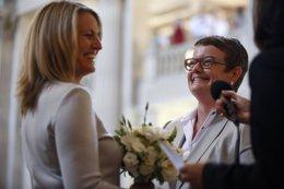 Primera boda gay en California desde 2008