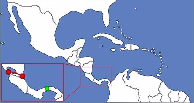 Plano Canal de Nicaragua