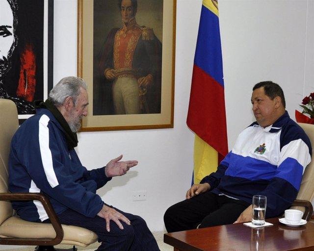 Fidel Castro Y Hugo Chávez En La Habana