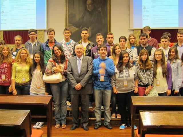 Primer grupo de participantes en los Campus Científicos de Verano