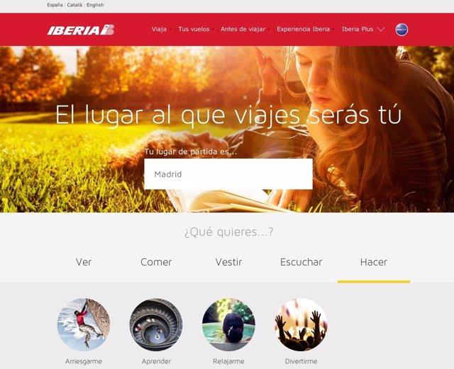Nueva web de Iberia