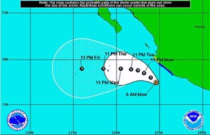 La tormenta Dalila amenaza con fuertes lluvias en la costa occidental del país