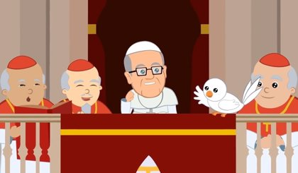 """La biografía del Papa Francisco """"en cuatro minutos"""" de dibujos animados"""