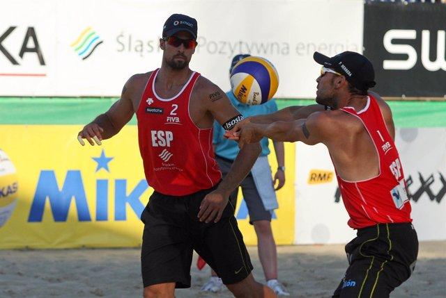 Adrian Gavira Pablo Herrera Voley Playa