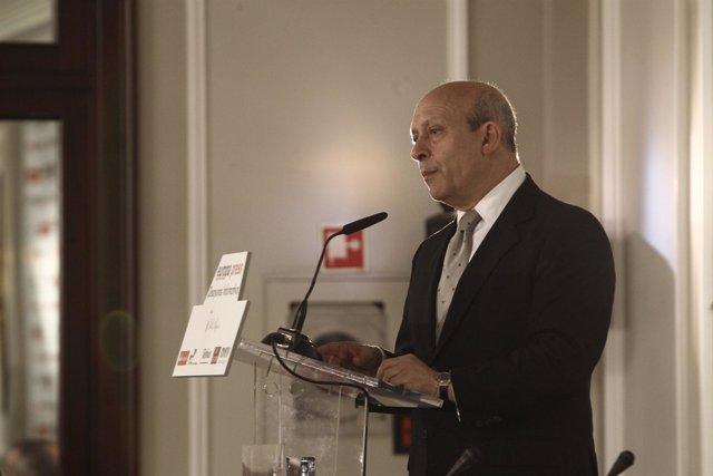 Ministro de Educación, José Ignacio Wert, en los desayunos de Europa Press