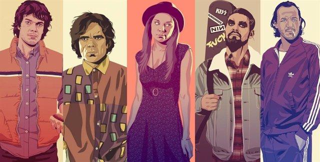 Juego de Tronos, ilustraciones de Mike Wrobel
