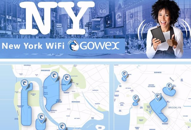 Mapa de Gowex en Nueva York