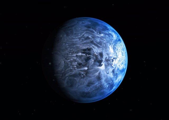 Observan el color real de un exoplaneta