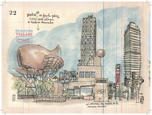 Dibujo de urban sketching