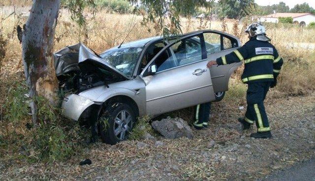 Accidente de coche este viernes en la A-384, en Villamartín