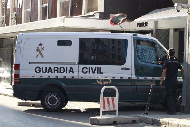 Bárcenas llega a la Audiencia Nacional en furgón