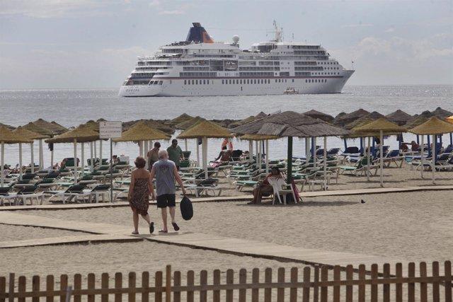 Imagen del crucero alemán