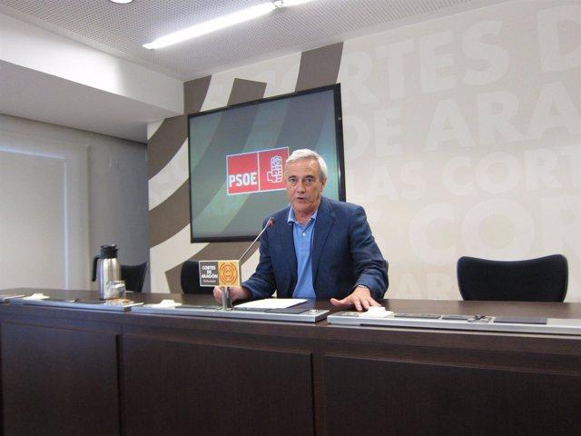 El portavoz del grupo parlamentario del PSOE en las Cortes de Aragón.