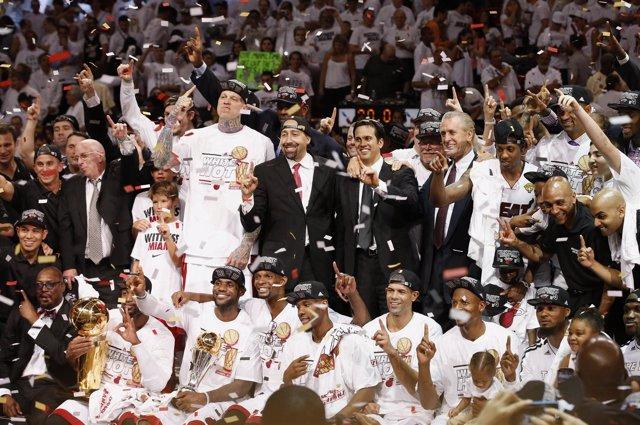 Los Heat, campeones de la NBA 2012-2013