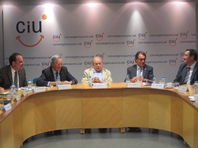 R.Espadaler, X.Trias, J.Pujol, Artur Mas y J.M.Pelegrí