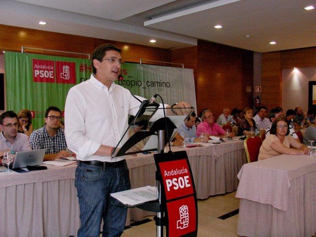 El secretario provincial del PSOE de Almería, José Luis Sánchez Teruel