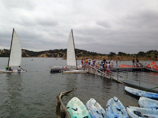 Actividades náuticas en Alqueva.