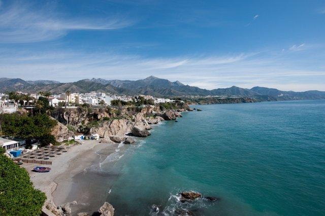 Costa, playa, vistas, turismo