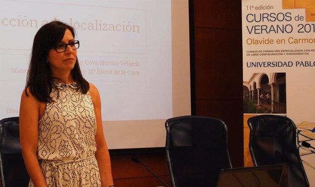 Profesora de Filología y Traducción de la UPO, María Elena de la Cova
