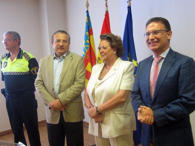 Barberá y Castellano inauguran la nueva unidad de Tránsits de la Policía Local
