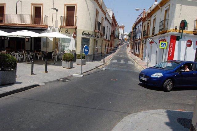 La calle Herrero estará cortada durante unos meses.