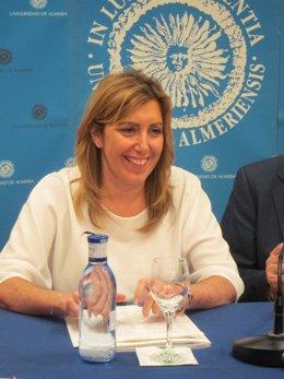 La consejera de Presidencia e Igualdad de la Junta de Andalucía, Susana Díaz