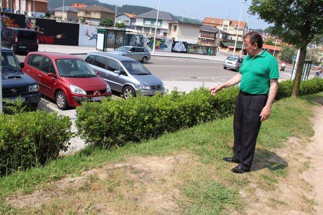 El concejal de Medio Ambiente en el Parque Manuel Barquín