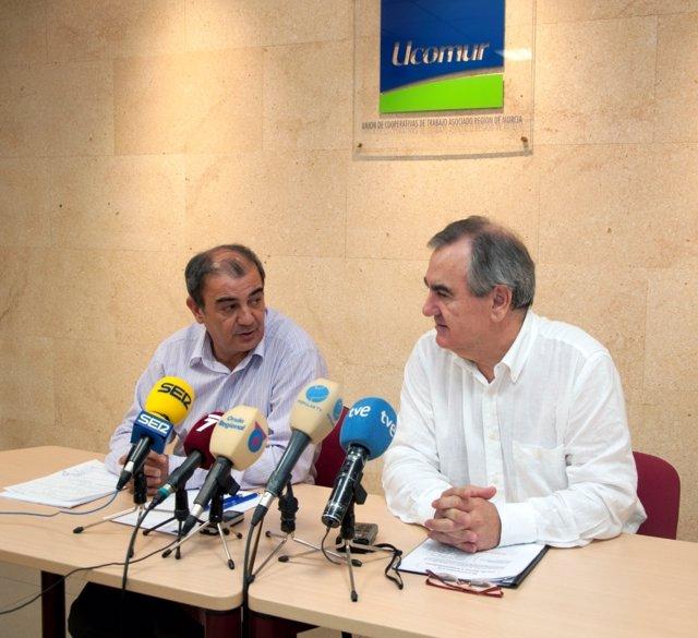 Pedreño y Tovar en rueda de prensa