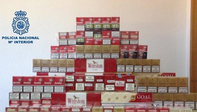 El tabaco de contrabando intervenido