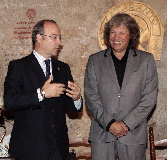 El alcalde de Almería con José Mercé