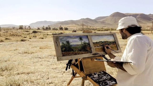 Daniel Formigo pinta 'Almería como modelo'