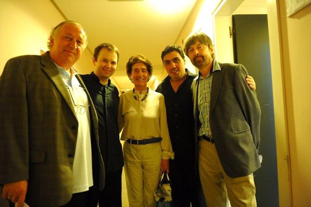 Peter Csaba, Eldar Nebolsin, Paloma O´Shea, Zoltan Tatevosyan, e Ivan Monighetti