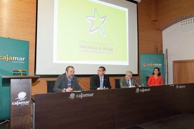 Acto de inauguración de los Cursos de Verano de la UMA en Málaga