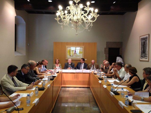 Constitución de Agroforum con el conseller Josep Maria Pelegrí