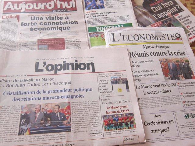 Prensa marroquí sobre visita del Rey a Marruecos