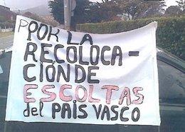 Pancarta usada por los escoltas
