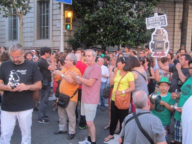Manifestación ante delegación del Gobierno por caso Bárcenas