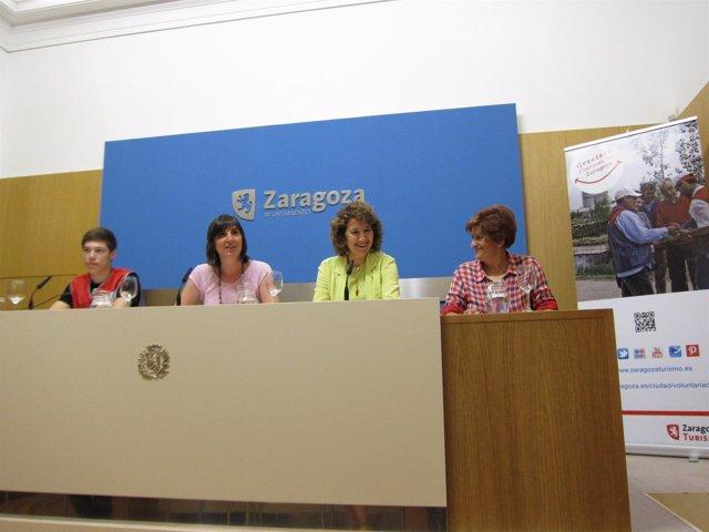 Presentación del nuevo servicio de 'greeters-cicerones' de Zaragoza